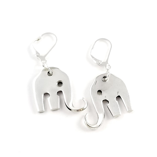 Mini Elefork Elephant Cocktail Fork Earrings by Midnight Jo