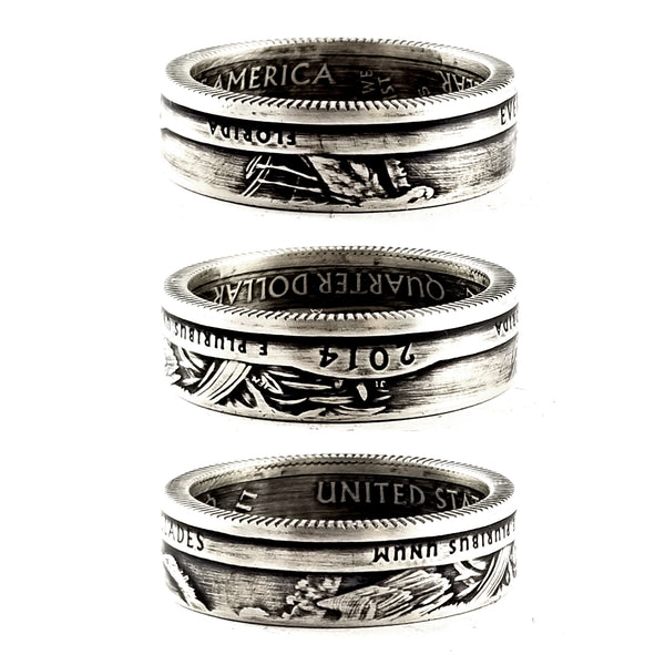 90% Silver Everglades National Park Quarter Ring by midnight jo