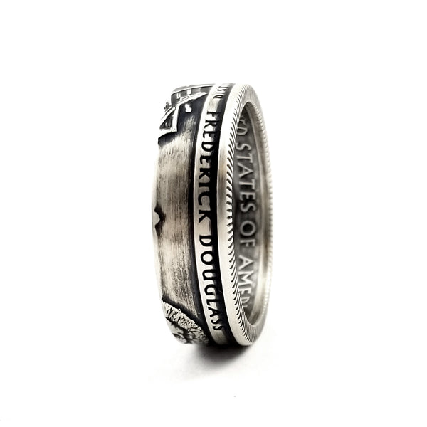90% Silver Frederick Douglass National Park Quarter Ring by midnight jo