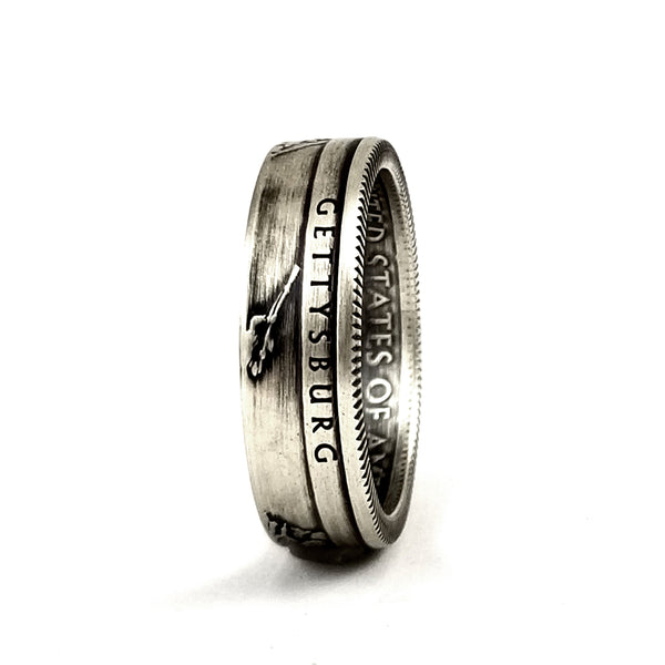 Silver Gettysburg National Park Coin Ring by midnight jo