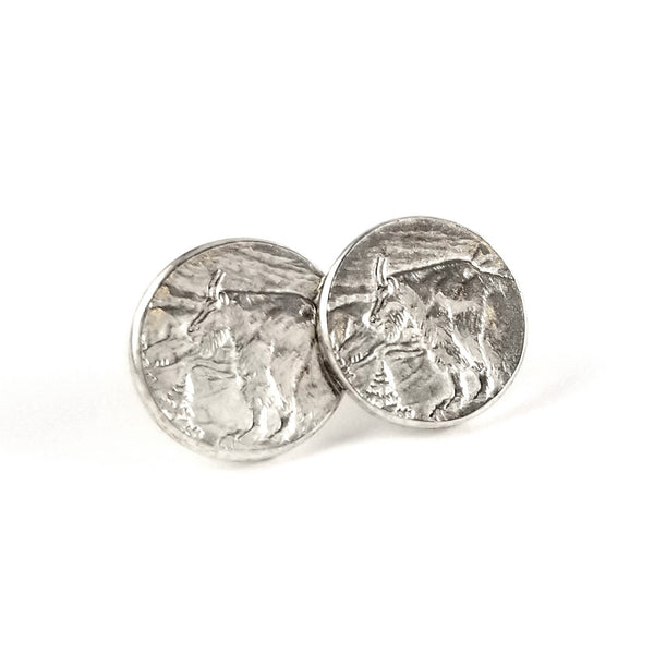 Silver Glacier National Park Stud Earrings by midnight jo