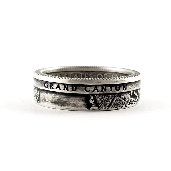 Silver Grand Canyon National Park coin Ring by Midnight Jo
