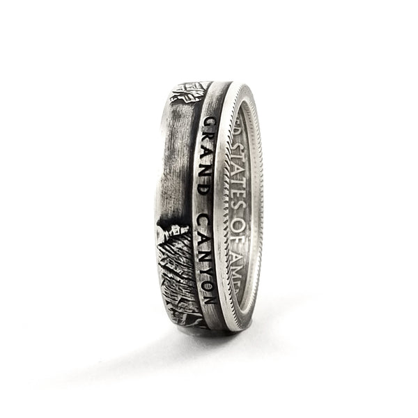 Silver Grand Canyon National Park Quarter Ring by Midnight Jo