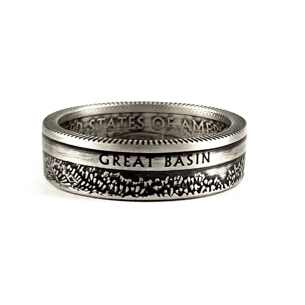 Silver Great Basin National Park Quarter Ring by  midnight jo
