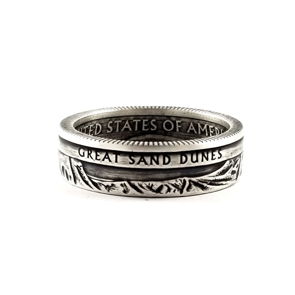 90% Silver Great Sand Dunes National Park Coin Ring by Midnight Jo