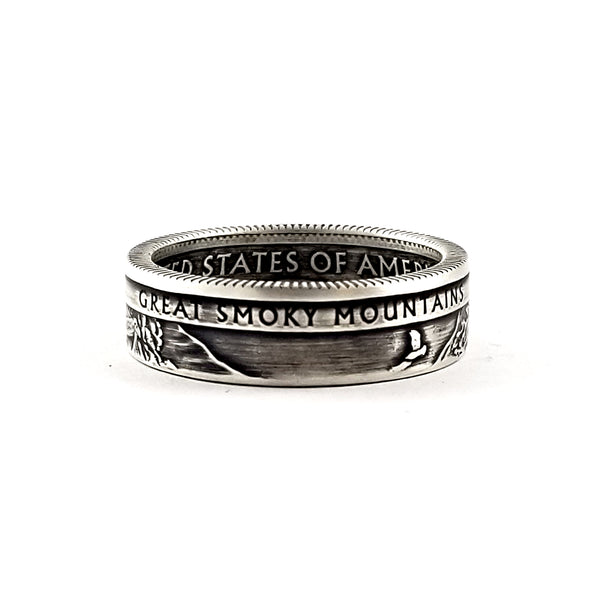 90% Silver Great Smoky Mountains National Park Coin Ring by midnight jo