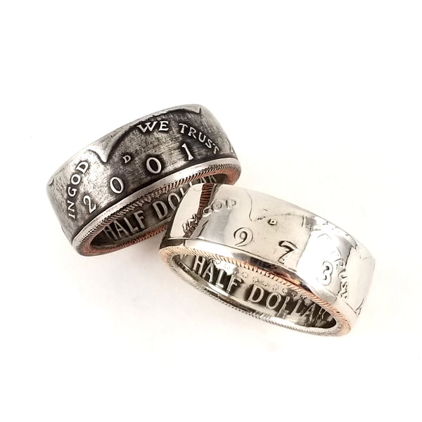 1971-2019 JFK Half Dollar Ring by Midnight Jo
