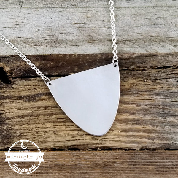 Half Moon Silver Spoon Necklace