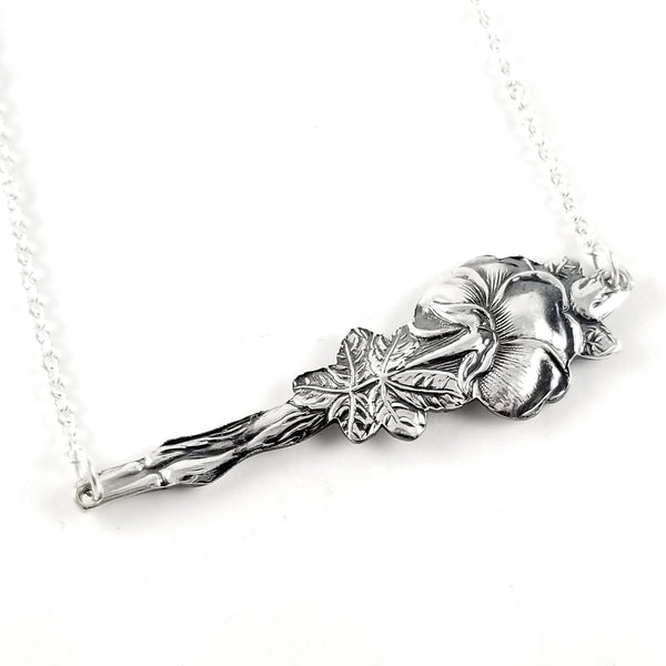 Reed & Barton Harlequin Silver Wild Rose Bar Necklace by Midnight Jo
