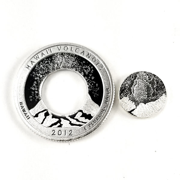 hawaii volcanoes punched out coin by midnight jo
