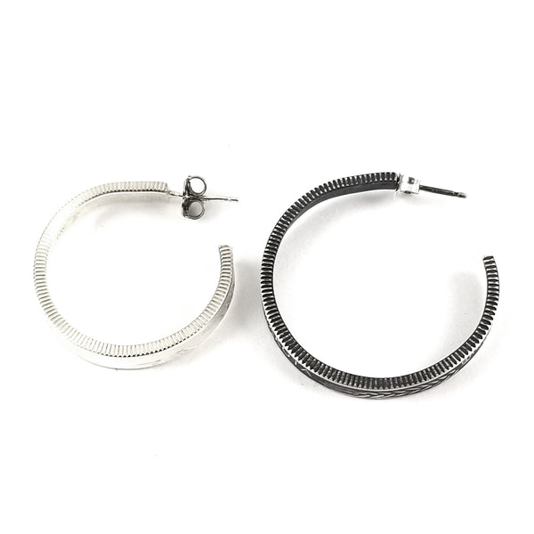 90% Silver State quarter Coin Hoop Earrings by midnight jo