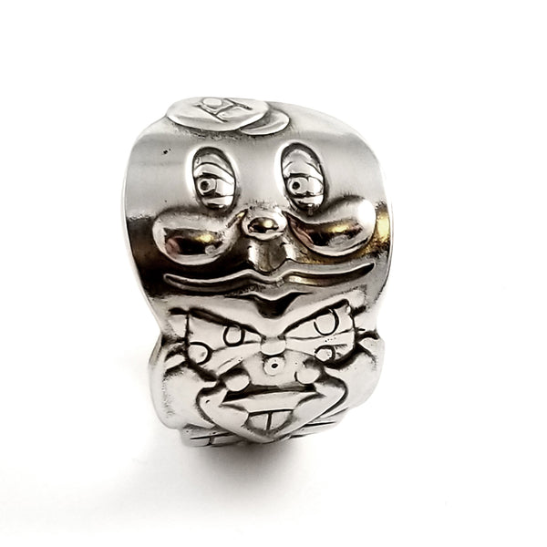 Vintage Humpty Dumpty Oneida Stainless Steel Spoon Ring by Midnight Jo