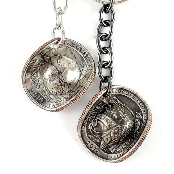 National Park Quarter Cowboy Hat Coin Keychain by Midnight Jo