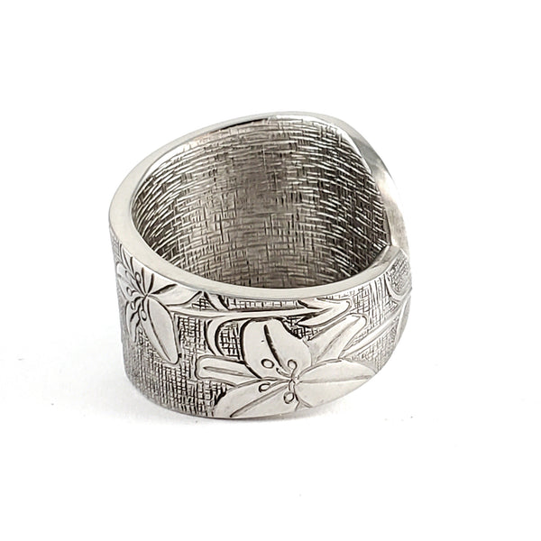 whiting lily spoon ring sterling silver