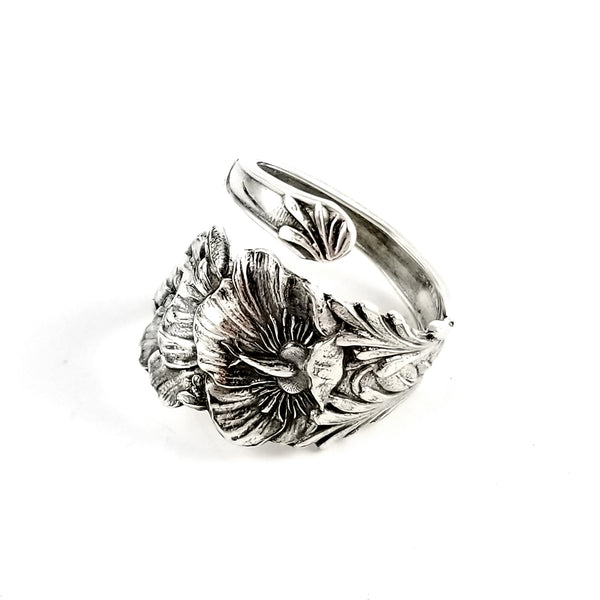 Sterling Silver Poppy Souvenir Spoon Ring by Midnight Jo