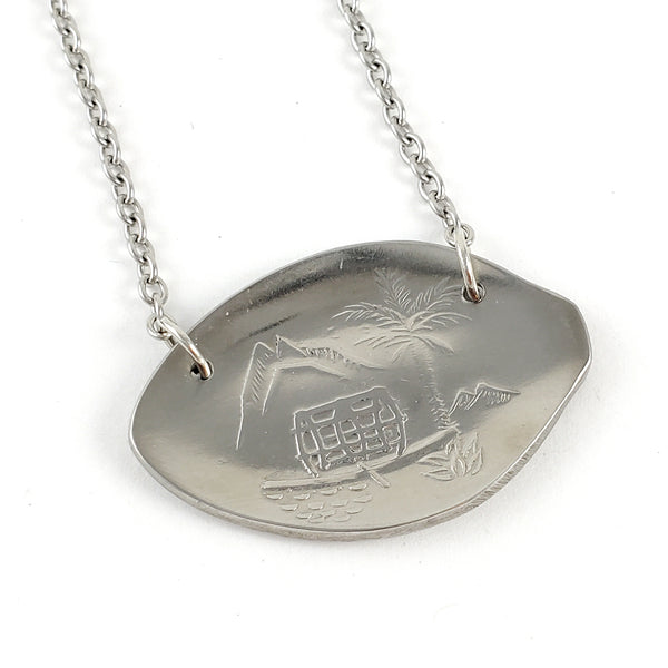 Rolex Lugano Palm Tree Stainless Steel Spoon Necklace by Midnight Jo