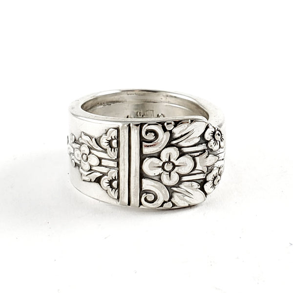 Oneida Margate Floral Spoon Ring by Midnight Jo