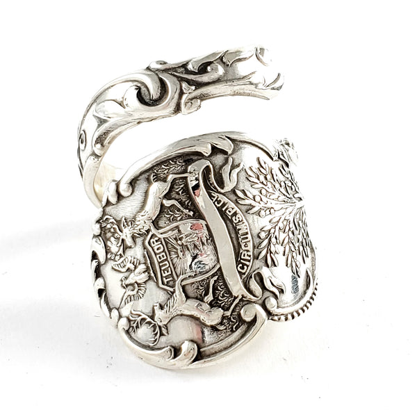 Sterling Silver Michigan Souvenir Spoon Ring by Midnight Jo