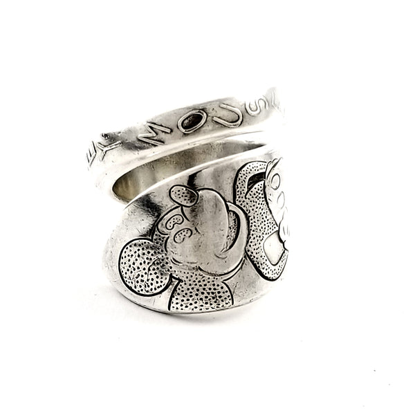 WM Rogers Mickey Mouse Wrapped Spoon Ring by Midnight Jo