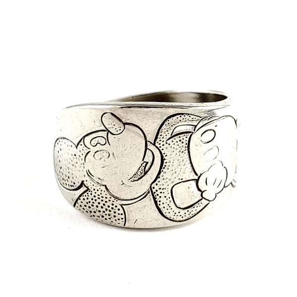 WM Rogers 1930's Mickey Mouse Spoon Ring by Midnight Jo