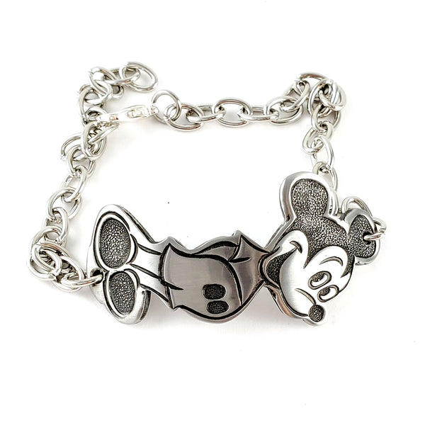 Vintage Mickey Mouse Bonny Stainless Steel Spoon Bracelet by midnight jo