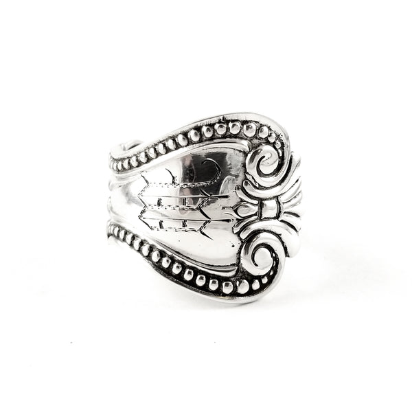 Antique M Monogram Sterling Silver Spoon Ring by Midnight Jo