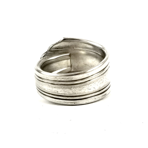 National Silver Moderne Spoon Ring by midnight jo