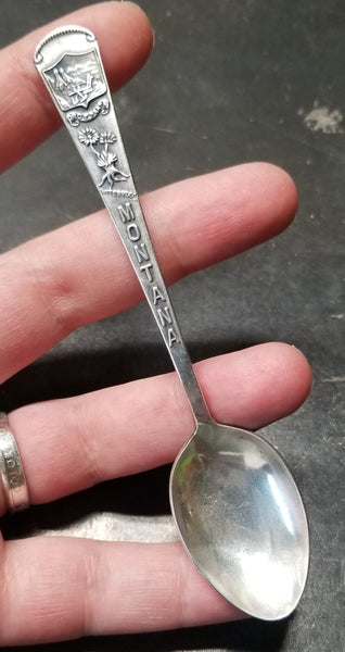 Sterling Silver Montana Souvenir Spoon Double Bar Ring by Midnight Jo