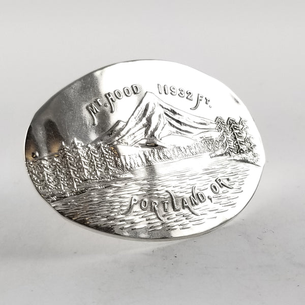 Sterling Silver Mt Hood Portland OR Souvenir Spoon Statement Ring by midnight jo