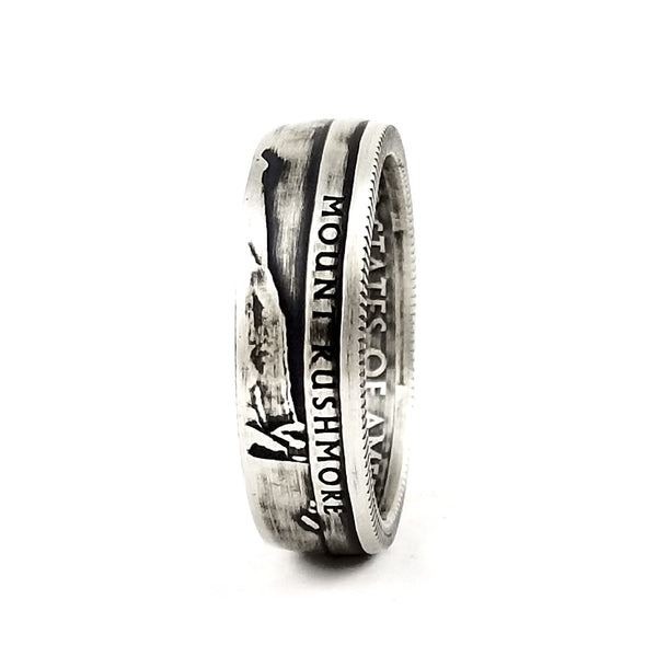 mt rushmore silver coin ring