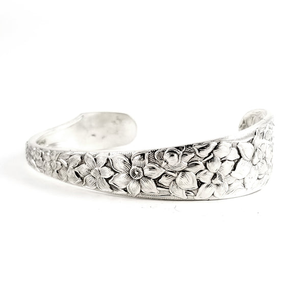 National Silver Narcissus Spoon Cuff Bracelet by Midnight Jo