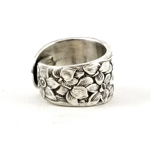 National Silver Narcissus Spoon Ring by midnight jo