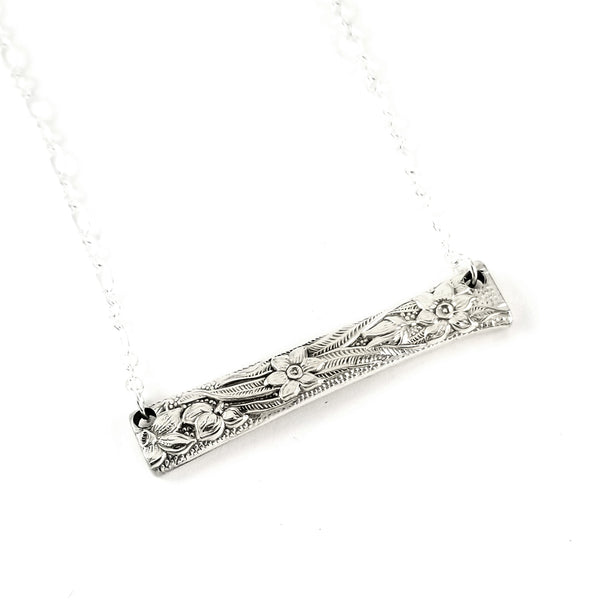National Silver Narcissus Spoon Bar Necklace by midnight jo