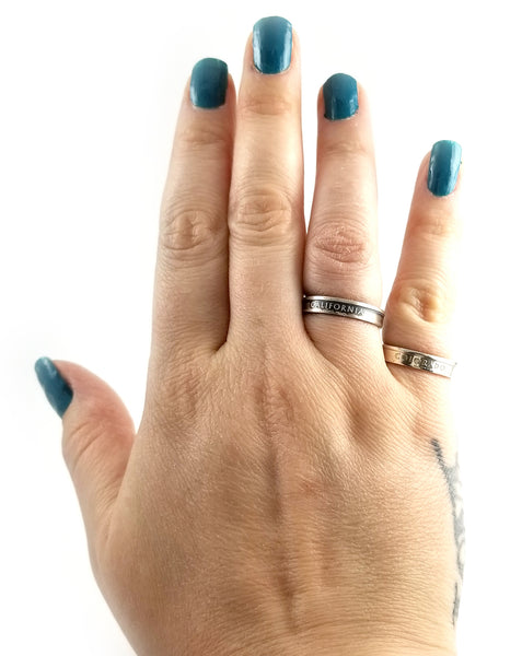 silver state quarter stacking rings by midnight jo