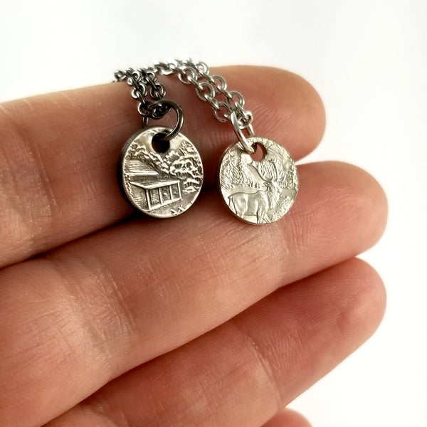 National Park Quarter Coin Charm Necklace by midnight jo