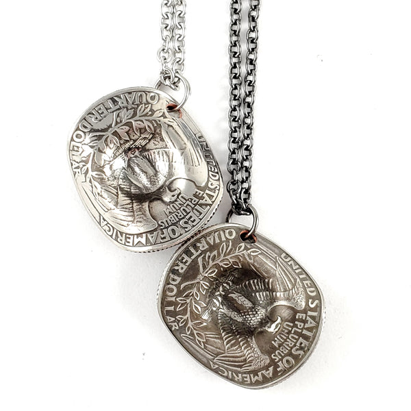 1965-1998 Quarter Cowboy Hat Coin Necklace by Midnight Jo