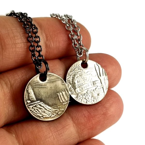State Quarter Stacking Coin Ring & Punch Out Necklace Set
