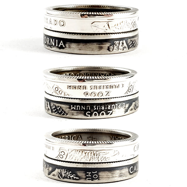 Silver State Quarter Stacking Coin Ring by Midnight Jo