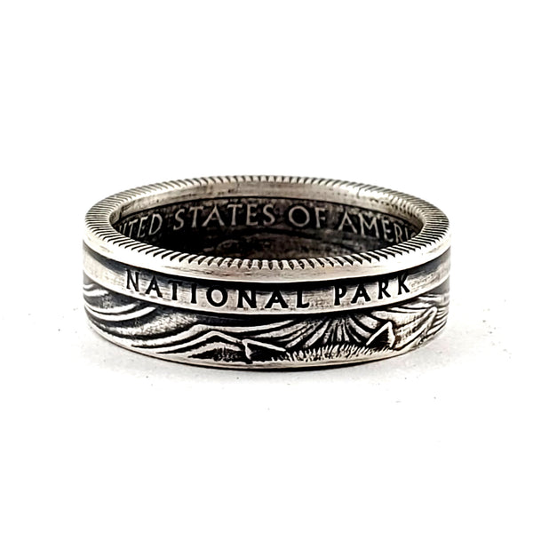 Silver National Park American Samoa Quarter Ring by Midnight Jo