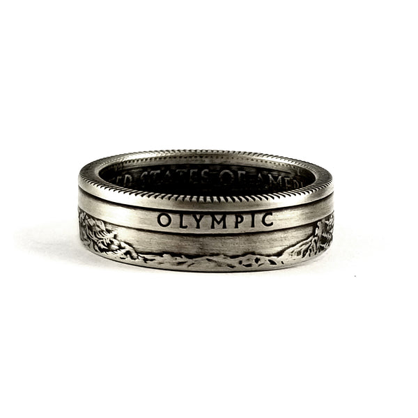 silver olympic national park coin ring
