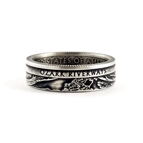 Ozark Riverways national park quarter coin ring