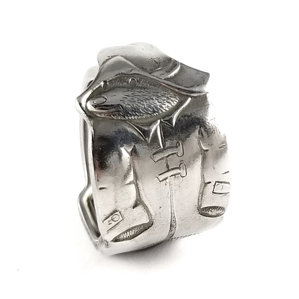Vintage Paddington Bear Stainless Steel Spoon Ring by Midnight Jo