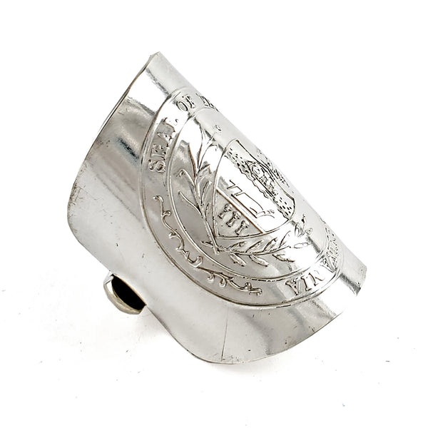 International Silver 13 Colonies Shield Spoon Ring by Midnight Jo