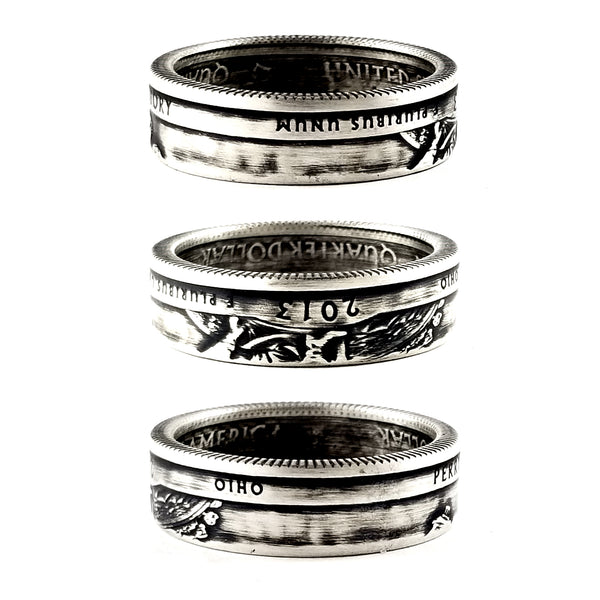 90% Silver Perry's Victory National Park Coin Ring by Midnight Jo