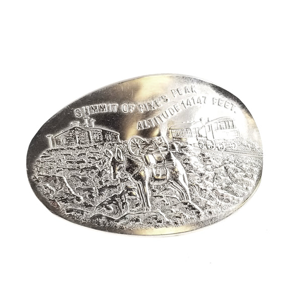 Sterling Silver Pikes Peak Souvenir Spoon Statement Ring by midnight jo