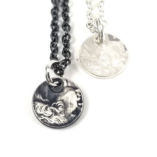 Silver Washington Quarter Coin Charm Necklace by midnight jo