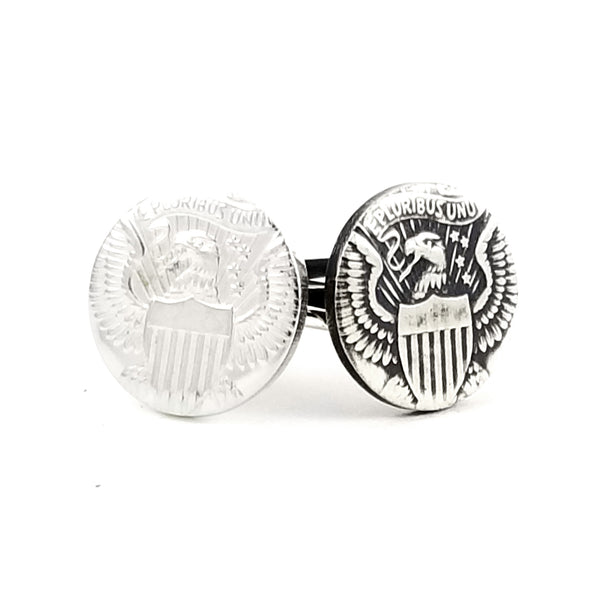 Silver JFK Half Dollar Punch Out Stacking Ring by Midnight Jo