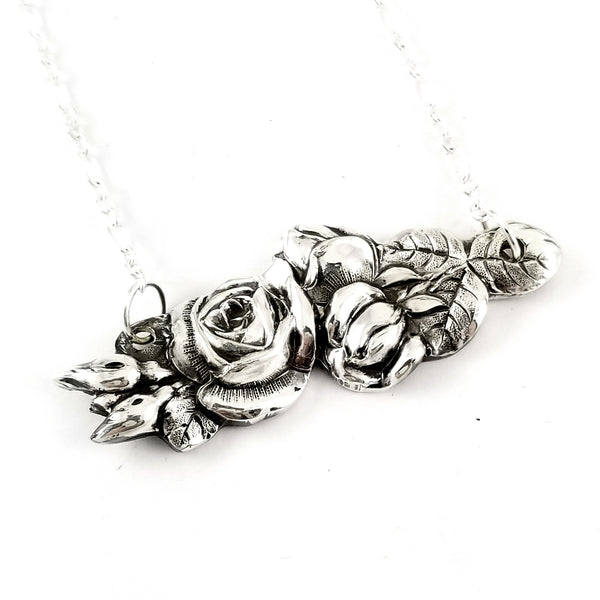 reed & barton harlequin rose bar necklace