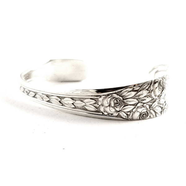 National Rose & Leaf Spoon Cuff Bracelett by Midnight Jo