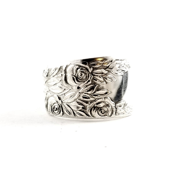 National Rose & Leaf Spoon Ring by Midnight Jo